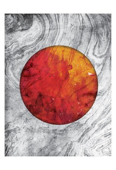 Marble Mars-Jace Grey-Art Print