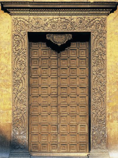 Marble Portal of Basilica of Sant'Andrea, Mantua--Photographic Print