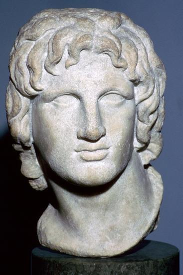Marble portrait of Alexander the Great, Hellenistic Greek, 2nd-1st century BC. Artist: Unknown-Unknown-Giclee Print