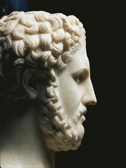 Marble Portrait of Philip II of King of Macedon A.C, Profile--Giclee Print