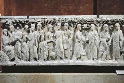 Marble Sarcophagus, Relief with Scenes from Old and New Testament--Giclee Print