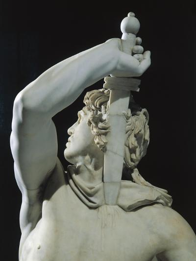 Marble Sculptural Group known as Galatian Suicide or Ludovisi Gaul Killing Himself and His Wife--Giclee Print