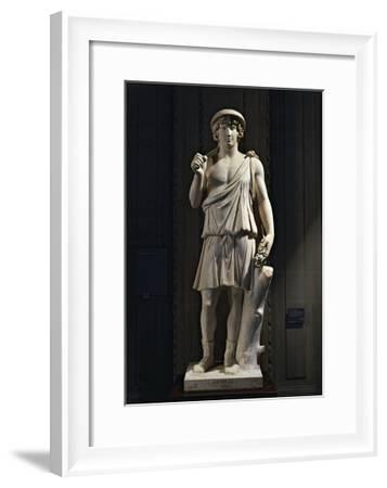 Marble Statue of Antinus of Aristea, Greek God of Gardens--Framed Giclee Print