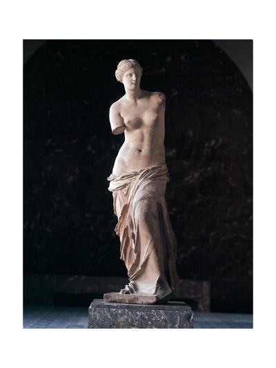 "Marble Statue of Aphrodite of Milos known as ""Venus De Milo"". from Island of Milos--Giclee Print"