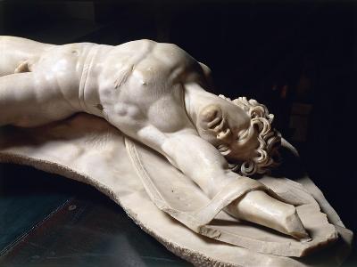 Marble Statue of Dead Gaul, Roman Copy of Pergamon School Original--Giclee Print