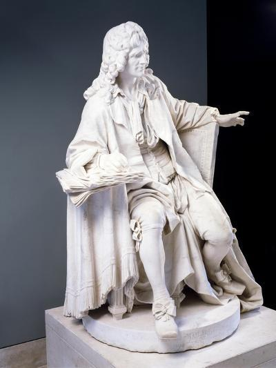 Marble Statue of Moliere--Giclee Print