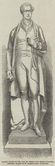 Marble Statue of the Late Sir Robert Peel (Noble--Giclee Print