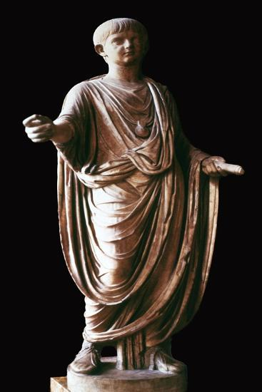 Marble statue of the Roman emperor Nero, 1st century. Artist: Unknown-Unknown-Giclee Print
