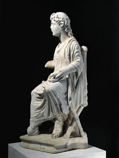 Marble Statue of Young Christ Seated on Stool, from Civita Lavinia, Rome--Giclee Print