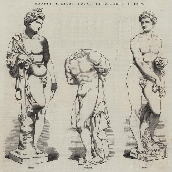 Marble Statues Found in Windsor Forest--Giclee Print