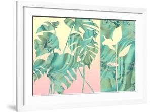 Marbled Tropical Silhouettes