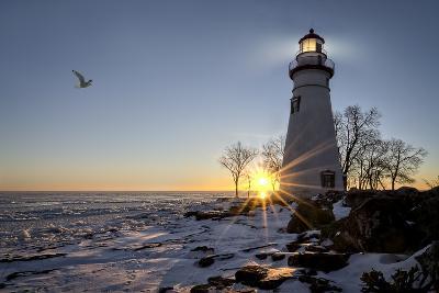 Marblehead Lighthouse Sunrise-Michael Shake-Photographic Print