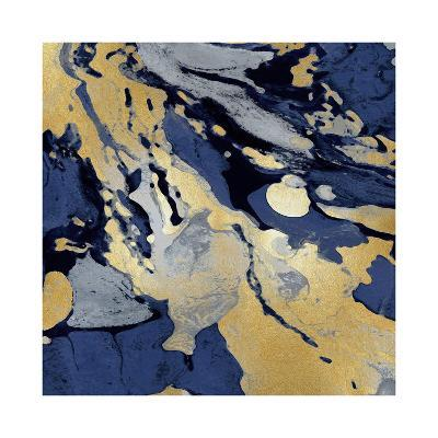 Marbleized in Gold and Blue I-Danielle Carson-Giclee Print