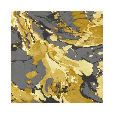 Marbleized in Gold and Grey I-Danielle Carson-Giclee Print