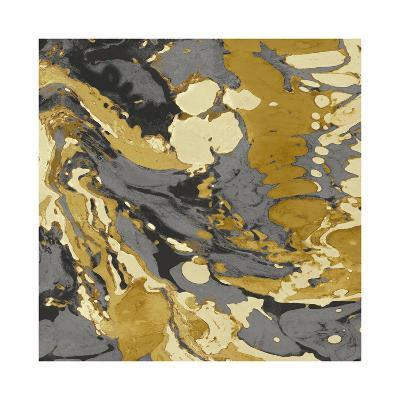 Marbleized in Gold and Grey II-Danielle Carson-Giclee Print