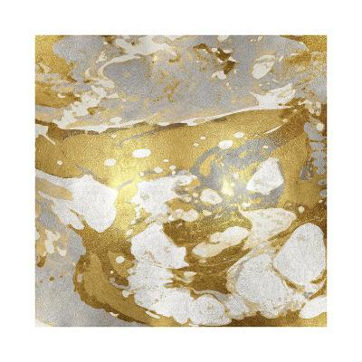 Marbleized in Gold and Silver I-Danielle Carson-Giclee Print