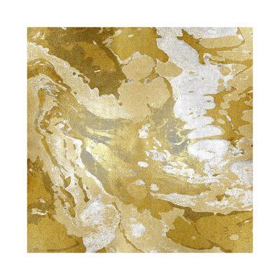 Marbleized in Gold and Silver II-Danielle Carson-Giclee Print