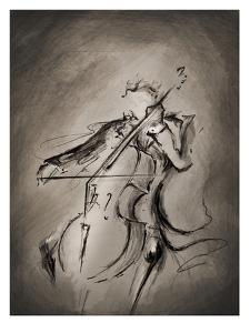 The Cellist Dark by Marc Allante