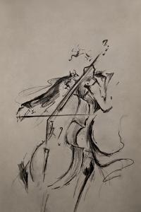 The Cellist Sketch by Marc Allante