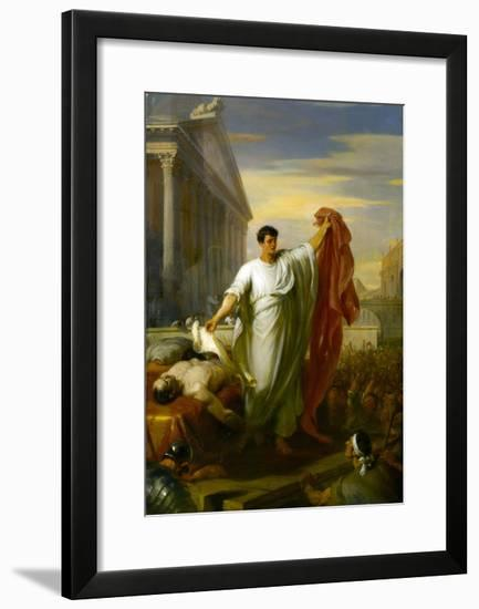 Marc Anthony Reading the Will of Caesar, 1834-William Hilton-Framed Giclee Print