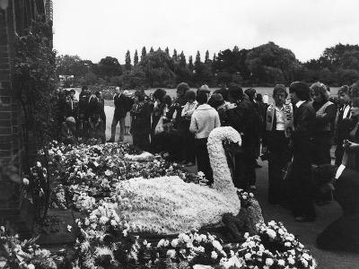 Marc Bolan's Funeral--Photographic Print