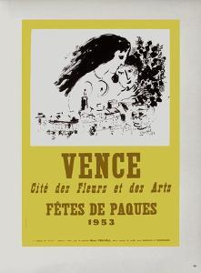 AF 1953 - Vence Fêtes De Pâques by Marc Chagall
