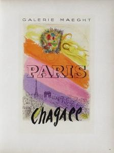 AF 1954 - Galerie Maeght Paris by Marc Chagall