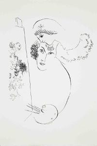 Artist and Lover by Marc Chagall