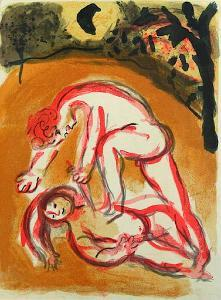 Bible: Cain et Abel by Marc Chagall