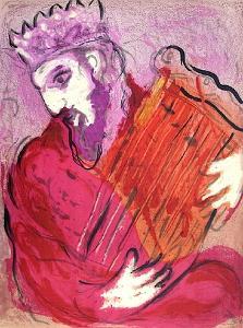 Bible: David À La Harpe by Marc Chagall