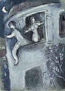 Bible: David Sauve Par Michal by Marc Chagall