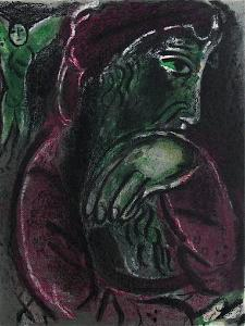 Bible: Job Desespere by Marc Chagall