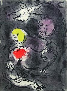 Bible: le Prophete Daniel Avec les Lions by Marc Chagall
