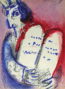 Bible: Moise III by Marc Chagall