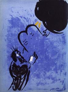 Bible: Moise Recoit les Tables de la Loi by Marc Chagall