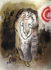 Bible: Noemie et Ses Belles-Filles by Marc Chagall