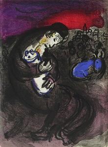 Bible: Pleurs de Jeremie by Marc Chagall