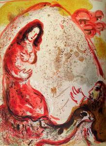 Bible: Rachel Derobe les Idoles de Son Pere by Marc Chagall