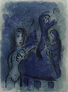 Bible: Rahab et les Espions de Jericho by Marc Chagall