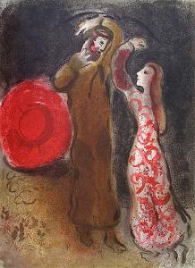 Bible: Rencontre De Ruth Et De Booz by Marc Chagall