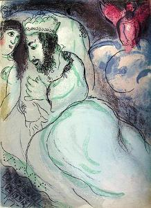 Bible: Sara Et Abimelech by Marc Chagall