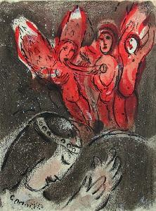 Bible: Sara et les Anges by Marc Chagall