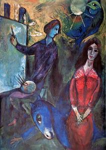 Blue Donkey by Marc Chagall