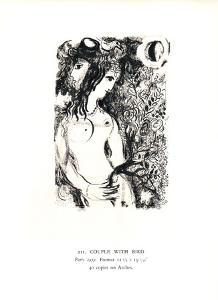 Couple a l'Oiseau by Marc Chagall