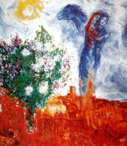 Couple au Dessus de St Paul by Marc Chagall
