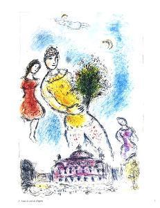 Dans le Ciel de l'Opera by Marc Chagall