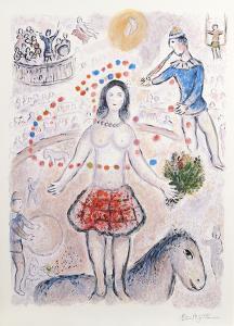 Danseuse au Flutiste by Marc Chagall