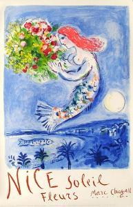 Expo 62 - Nice Soleil Fleurs by Marc Chagall