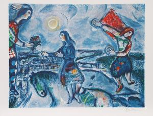 Giving the Bouquet by Marc Chagall