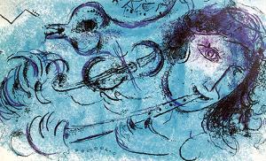 La Joeur de Flute by Marc Chagall